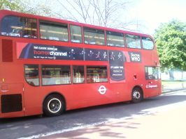 Bus ad for Doctor Who on the Horror Channel by DoctorWhoOne