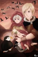 APH: Puffins by LadySwallow