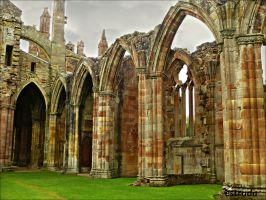 The Abbey Of St Mary Of Melrose,. by Estruda