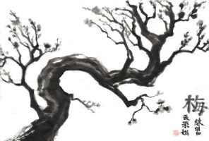 Practice-Plum Tree by mayshing