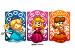 The Mushroom Kingdom Princesses by Thiefoworld