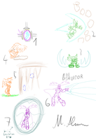 Freedom Planet Concepts (Rough Sketches) by Paragon-Yoshi