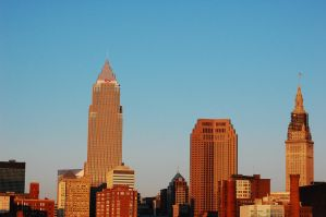 Cleveland skyline by MLeighS