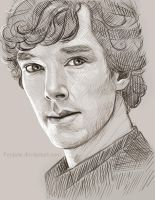 Sherlock Sketch by Feyjane
