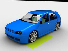 Vw golf model by ajpennypacker