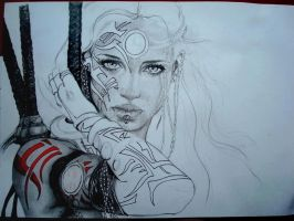 Warrior Princess WIP2 by Barzelletta