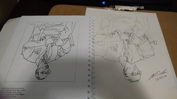 Upside down drawing exercise part 2. Stravinsky by ZachFX