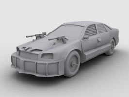 Low Poly Weaponized Audi A4 by SniperWolf87