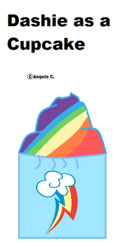 Dashie as a cupcake by Anggiemlplove