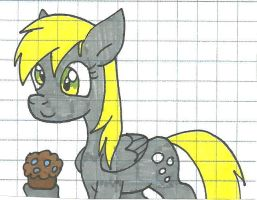 Derpy has a muffin by cmara