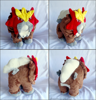 Blocky Entei Plush by xBrittneyJane