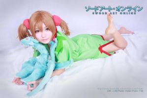 Silica in Sword Art Online ( sleeping dress) by multipack223