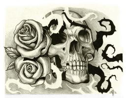 Skull 'n Thorns by Chaostouched