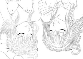 Girls. (lineart) by Conzy94
