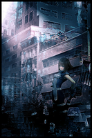 Girl in City by Warriortidus