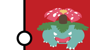 Venusaur Minimalist Wallpaper by Narflarg