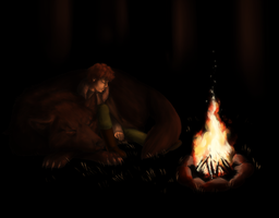 Rickon and Shaggy by miko851