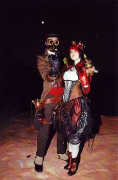 Steampunk Raygun Couple by KidThink