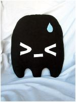 Angry Ghost Pillow by quacked