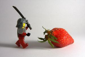 Attack of strawberry by solcarlusmd
