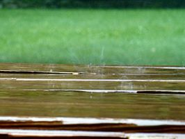 Picnic Table in the Rain by AndehDulac