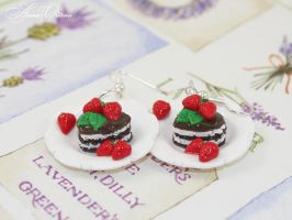 Earrings with cakes by OrionaJewelry