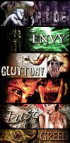 The seven deadly sins by Ynion