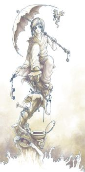 In the Shadows of Insanity by yuumei