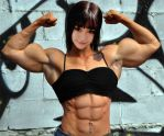 Asian muscle girl by Turbo99
