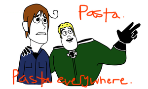 Pasta. Pasta Everywhere. by AskCeilingGermany