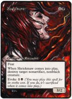 Magic the Gathering Alteration: Shriekmaw 6/18 by Ondal-the-Fool