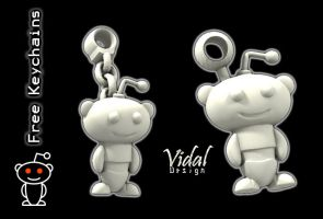 Reddit-Keychains For free by Vidal Design by Vidal-Design