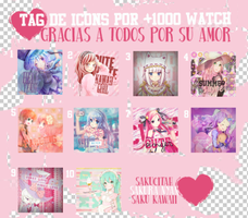Tag icons por +1000 watchers by sakucitah