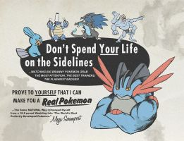 Pokemon Mega Swampert Advert shirt design by kaizerin