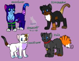 my cat characters by katribou