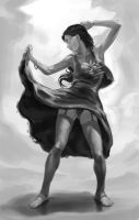 Dancing Girl - sketch- by FlavioGreco