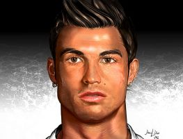 Cristiano Ronaldo Portrait - From Messi by danimix1983