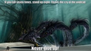 Never give up by KnighteyNight