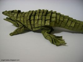 Origami - American alligator by satsukawa