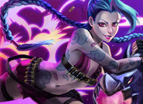 Jinx the Loose Cannon by Morigalaxy