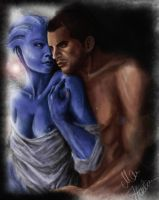 Liara and MShepard by mappeli