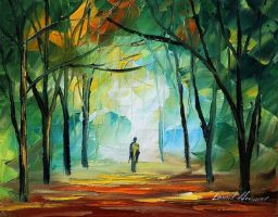 Alone by Leonid Afremov by Leonidafremov