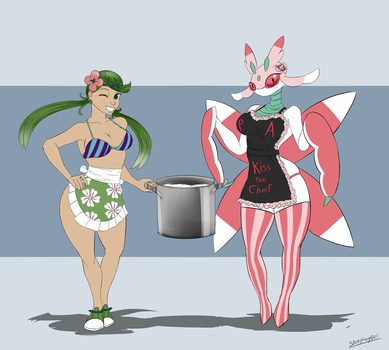 Mallow and Lurantis by SleepingEel