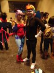 Lilith and Rainbow Dash(Zapp) Crossover Cosplay. by brandonale