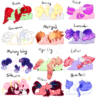 Chibi Flower Adopts {OPEN} by FallenFateAdopts