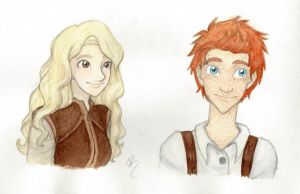 Rodger and Evelyn, colored! by LOZ-Elisrilianfan