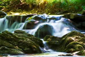 Long waterfall by Morpher-inc