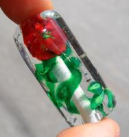Climbing Rose bead by fairyfrog