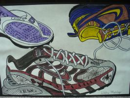 My Softball shoes by Ayanami-The-Nuff