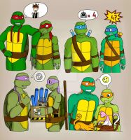 TMNT-Turtles Forever : 2003 and 2012 by RiannaSimon